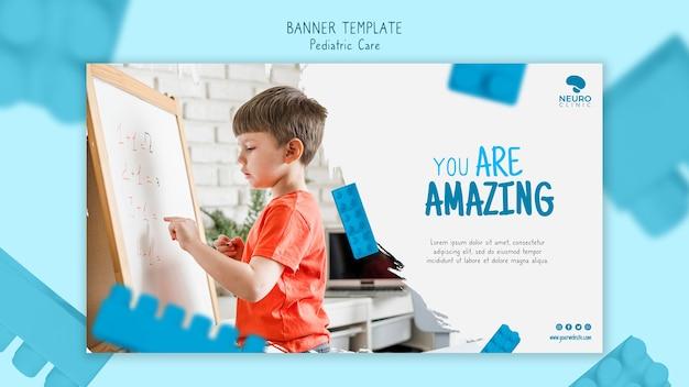 Pediatrische zorg concept horizontale banner