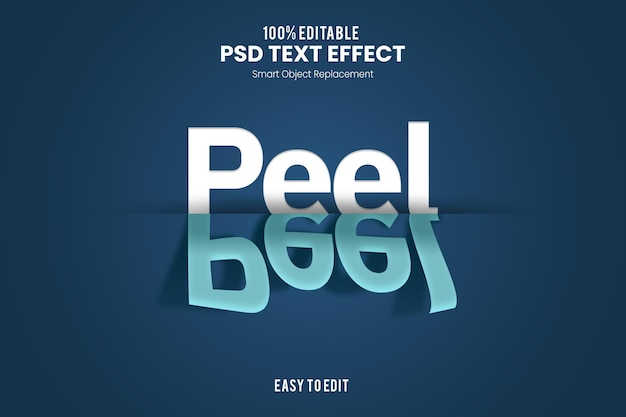 Peeltext-effect