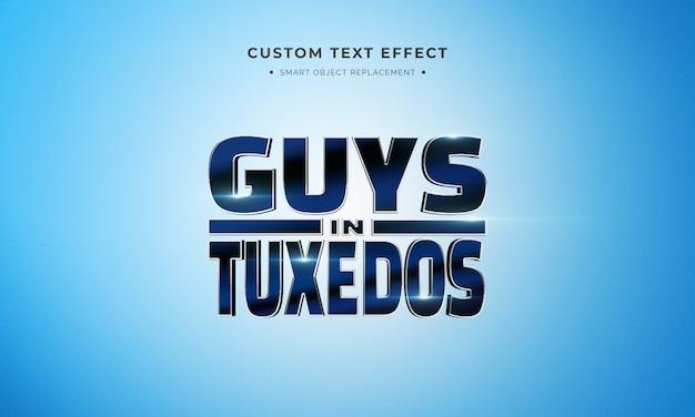 Película de animación estilo de texto 3d