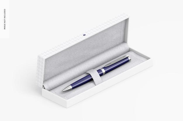 Pen in geschenkdoosmodel, isometrisch rechts aanzicht