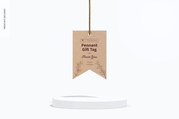 Pennant gift tag mockup