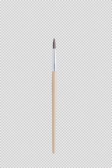Pennello isolato su sfondo bianco
