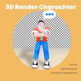 Pensamiento de personaje 3d