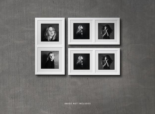 Pequeña maqueta de collage de marcos de fotos