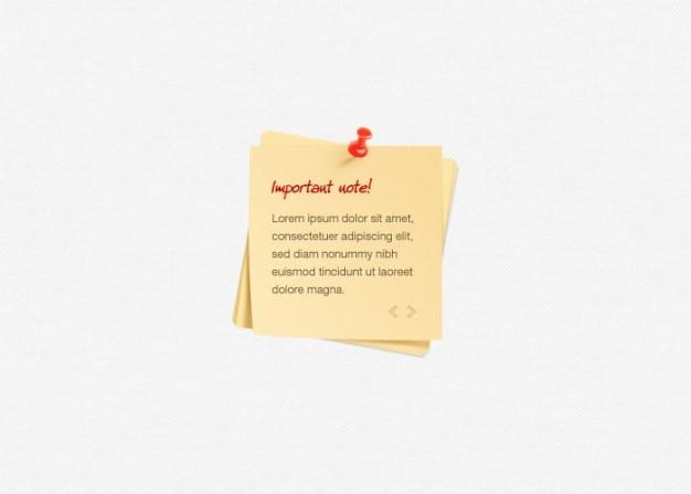 Pequeñas notas adhesivas con el pin rojo
