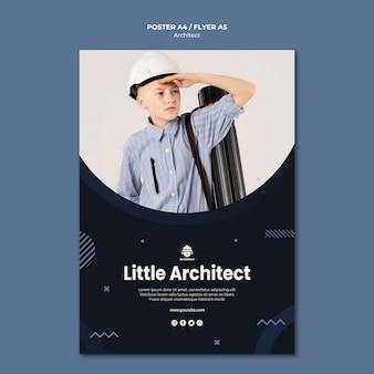 Pequeño diseño de póster de arquitecto
