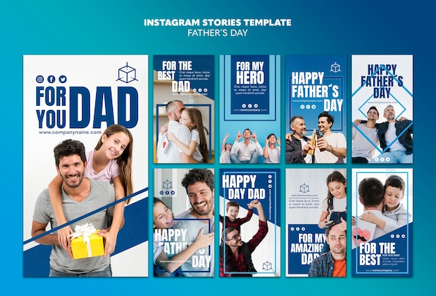 Per il modello di storie di instagram di papà papà