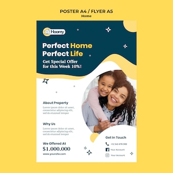 Perfect huis poster sjabloon