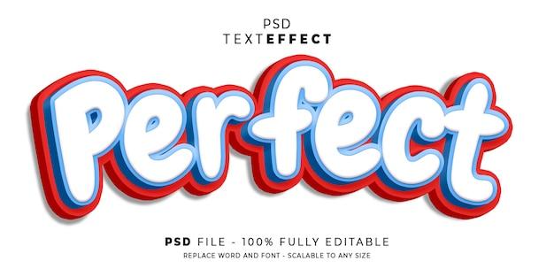 Perfecte 3d-tekststijleffectsjabloon