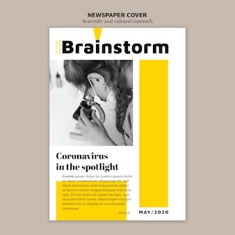 Periódico cubierta información científica