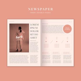 Periódico de moda con modelo de mujer