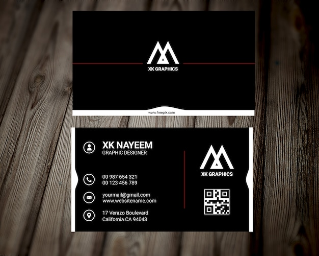 Personal graphics desinger business card