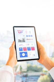 Persoon bedrijf tablet