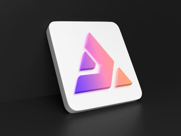 Perspectief 3d logo pictogram app mockup