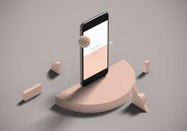 Perspectief iphone mockup