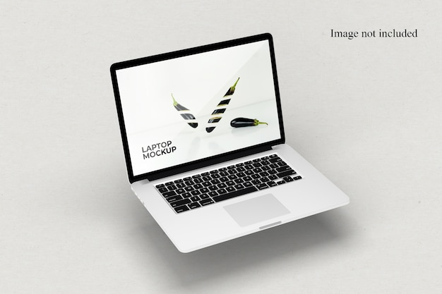 Perspectief laptop mockup