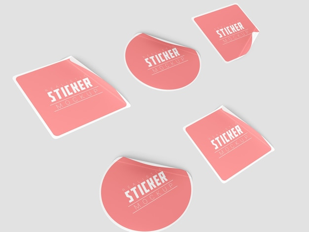 Perspectief sticker set mockup