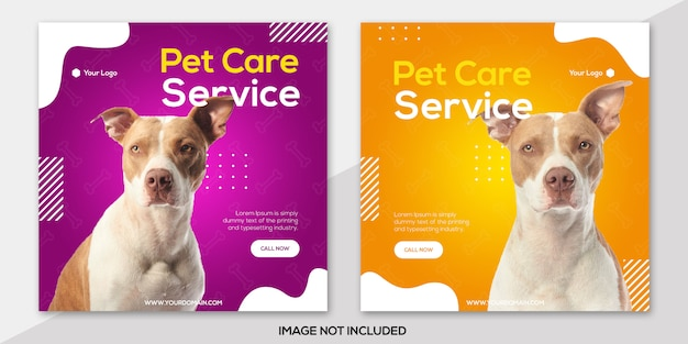Pet car service instagram postsjabloon