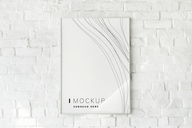 Photo frame mockup sul muro