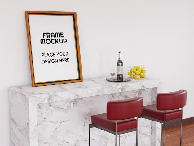 Photo frame mockup sulla scrivania