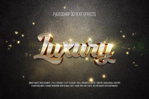 Photoshop 3d-teksteffecten luxe