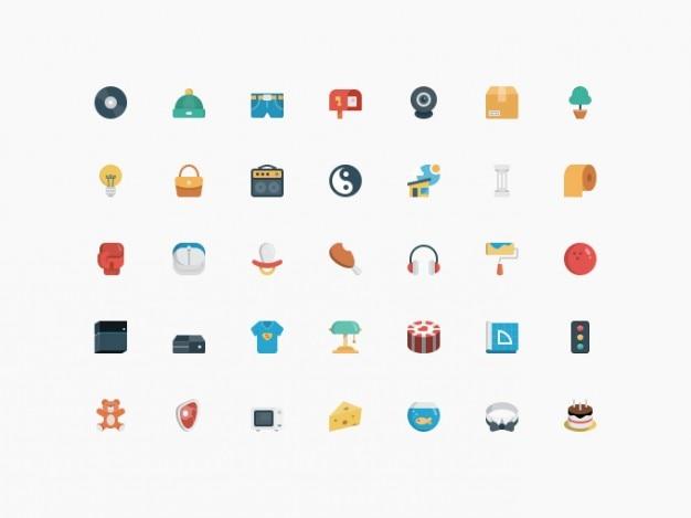 Piccole icone pacco psd