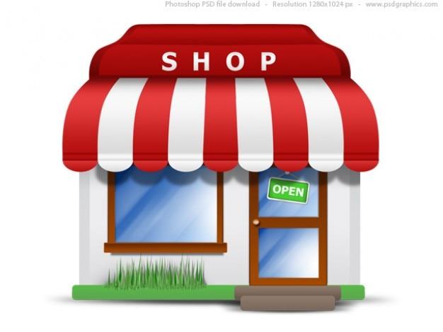 Piccolo negozio di icona (psd)