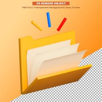Pictogram 3d-rendering premium psd