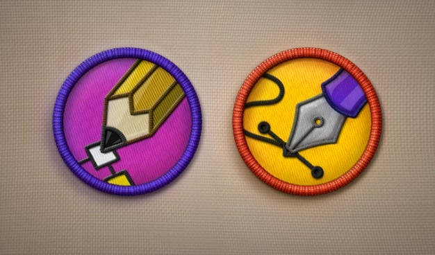 Pictogram pictogrammen verdienste badges psd