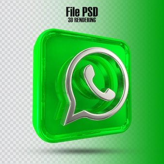 Pictogram whatsapp 3d-rendering