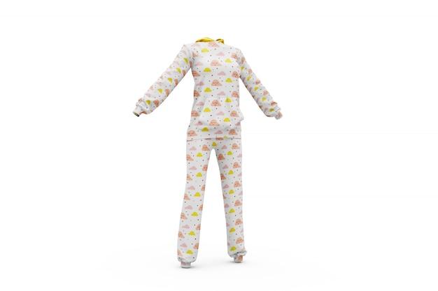 Pijamas maqueta aislada