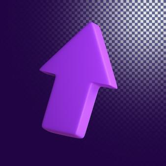 Pijl omhoog pictogram hoge kwaliteit 3d-gerenderde geïsoleerd