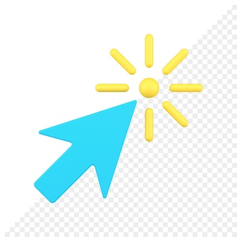 Pijlcursor 3d-pictogram