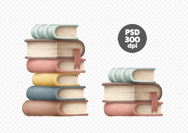 Pilas de imágenes prediseñadas de libros aislados