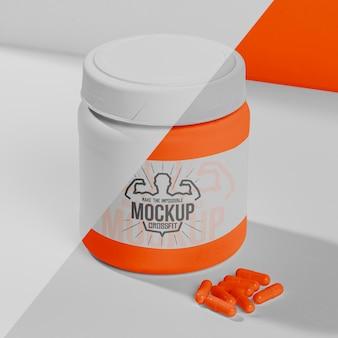 Píldoras y polvo de estimulantes de fitness