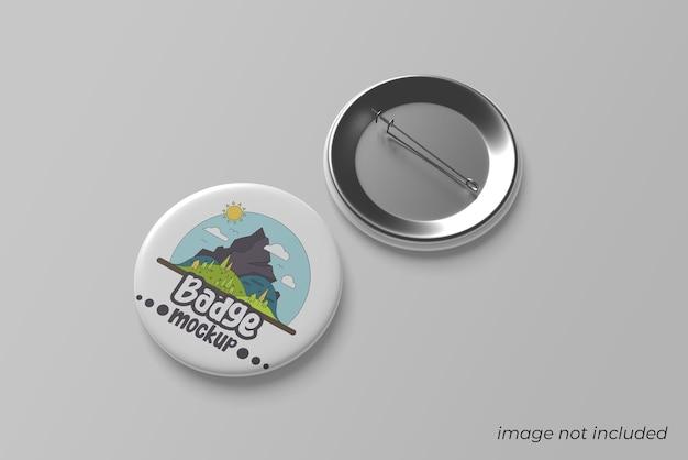 Pin badge mockup ontwerp geïsoleerd
