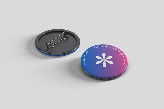 Pin-knop badge mockup