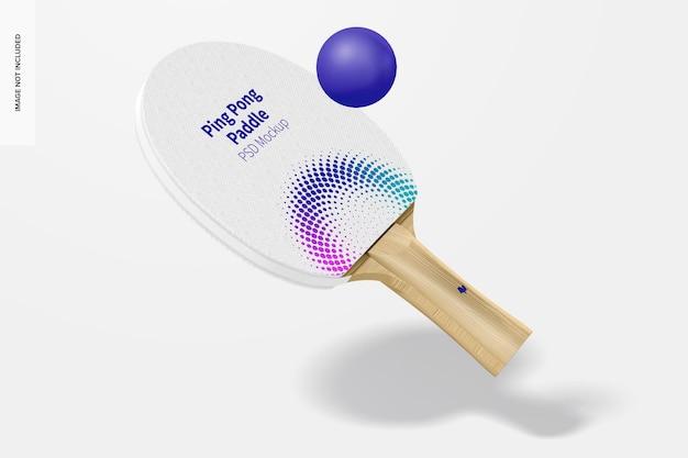 Ping pong paddle mockup, drijvend
