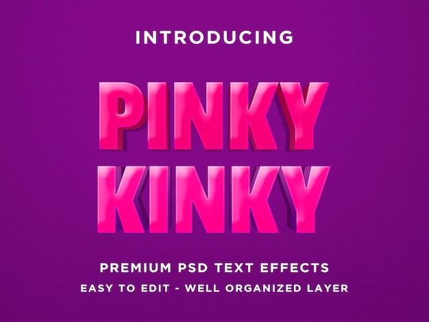 Pinky kinky - 3d teksteffect psd-sjabloon