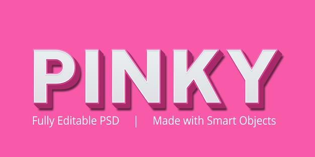 Pinky-tekststijleffect
