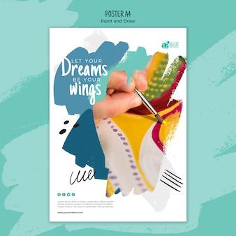 Pintar y dibujar estilo póster