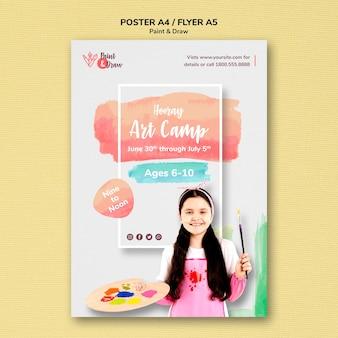 Pintar y dibujar el tema del póster