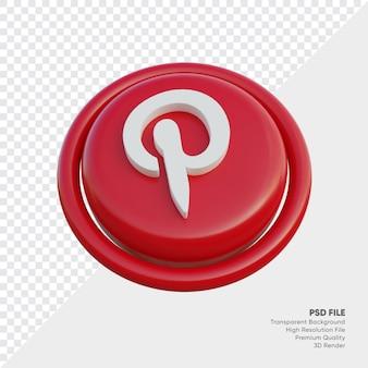 Pinterest isometrische 3d-stijl logo concept pictogram in ronde geïsoleerd