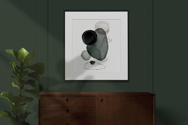 Pintura abstracta en una maqueta de marco de imagen