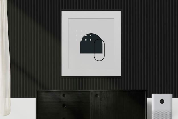 Pintura abstracta en la pared verde oscuro