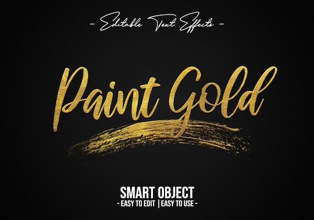 Pintura-oro-texto-estilo-efecto
