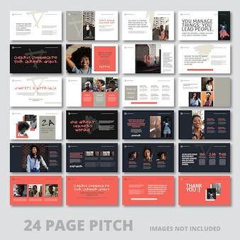 Pitch-deck met 24 pagina's