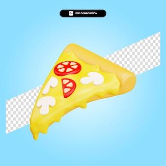 Pizza 3d render illustratie geïsoleerd