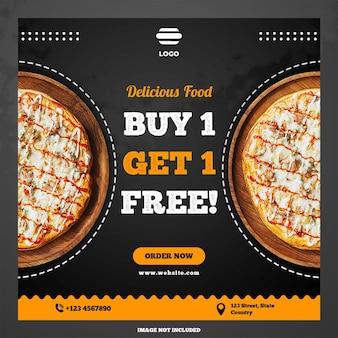 Pizza banner promotie sociale mediasjablonen