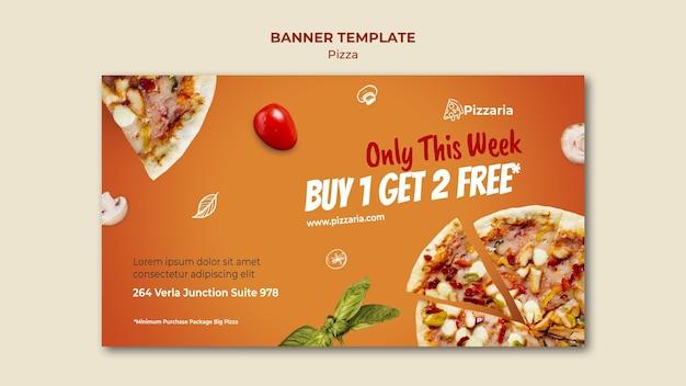 Pizza banner sjabloon concept
